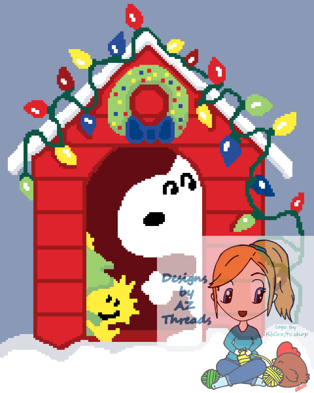 snoopy christmas house grid and written 160 200 azthreads